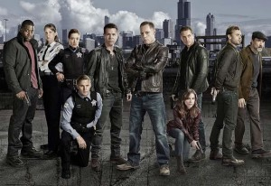 CHICAGO PD -- Season: 1 -- Pictured: (l-r) LaRoyce Hawkins as Detective Kevin Atwater, Amy Morton as Sgt. Trudy Platt, Marina Squerciati as Officer Kim Burgess, Brian Geraghty as Officer Sean Roman, Jon Seda as Det. Antonio Dawson, Jason Beghe as Sgt. Hank Voight,  Sophia Bush as Det. Erin Lindsay, Jesse Lee Soffer as Det. Jay Halstead, Patrick Flueger as Det. Adam Ruzek,  Elias Koteas as Det. Alvin Olinksy -- (Photo by: Paul Drinkwater/NBC)